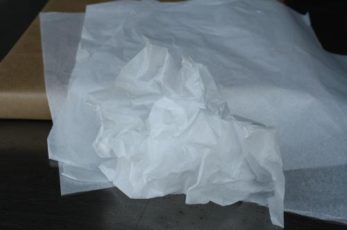 薄葉紙のカット